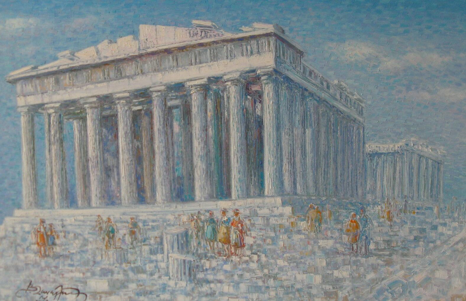 THE BEACON OF CIVILISATION STILL SHINES ON THE ACROPOLIS, ATHENS