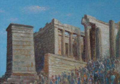 #PROPYLEA, ACROPOLIS ATHENS, THE ENTRANCE TO THE SHRINE